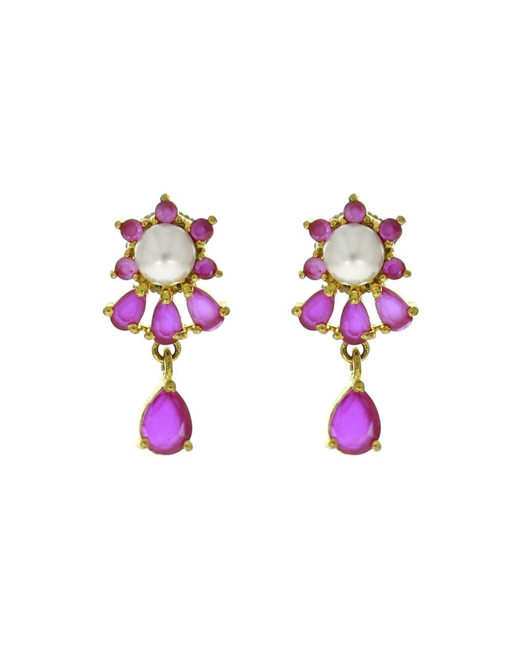 Adorable Pair of Pink Colour Fancy Earrings for Women