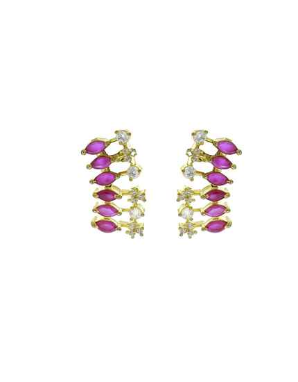 Pink Colour Dazzling Pair of Ear Studs for Women