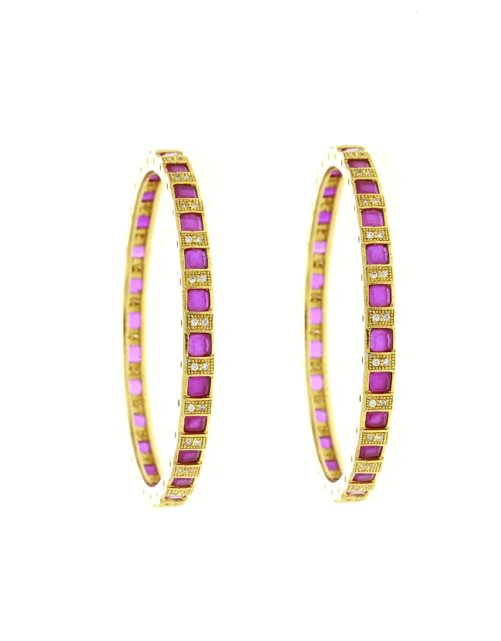Dazzling Pink Colour Fancy Party Wear Bangles for Women