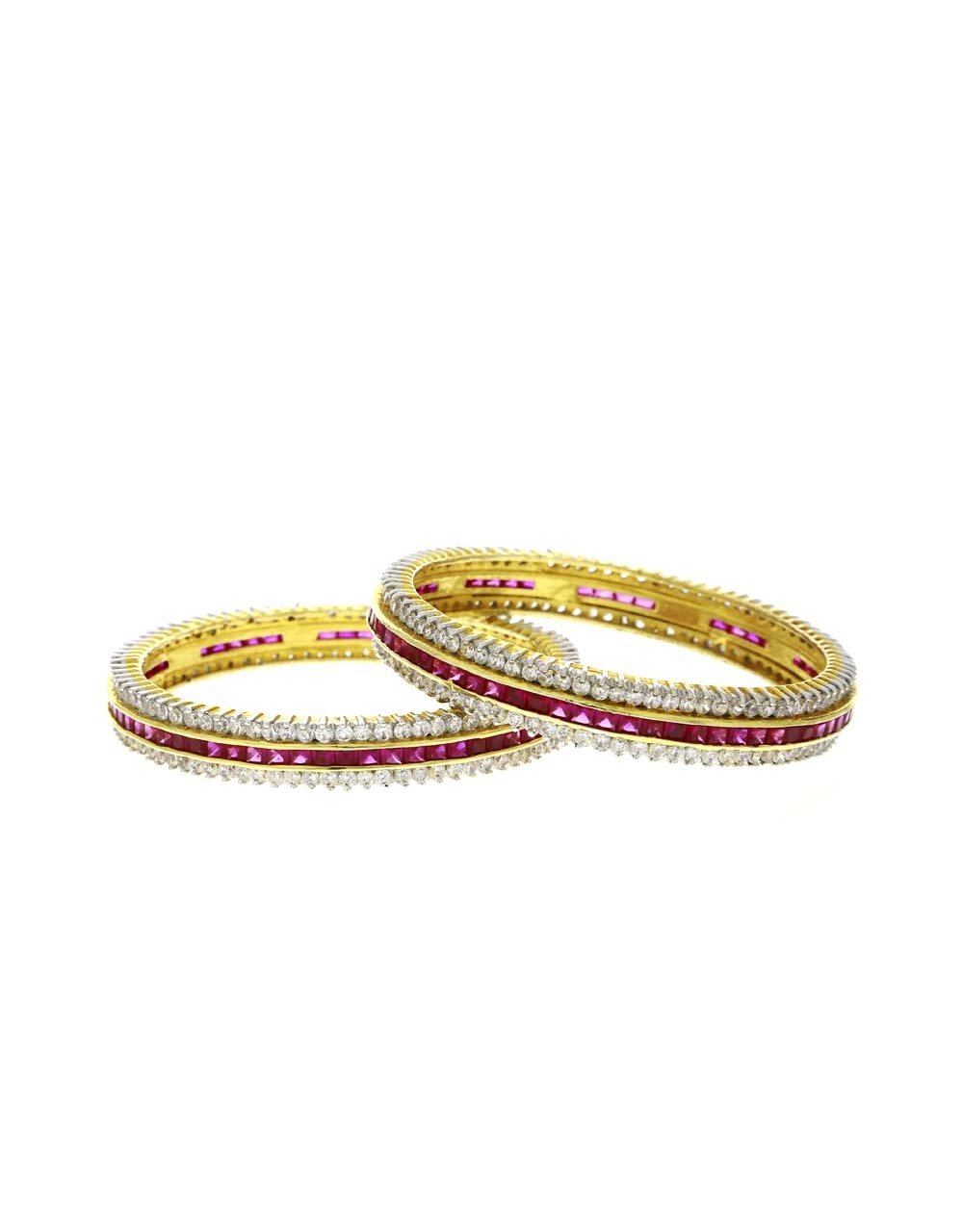 Ruby Pink Colour Beautiful Pair of Bangles for Women