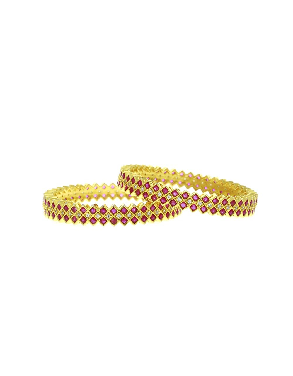 Pink Colour Adorable Pair of Bangles for Women