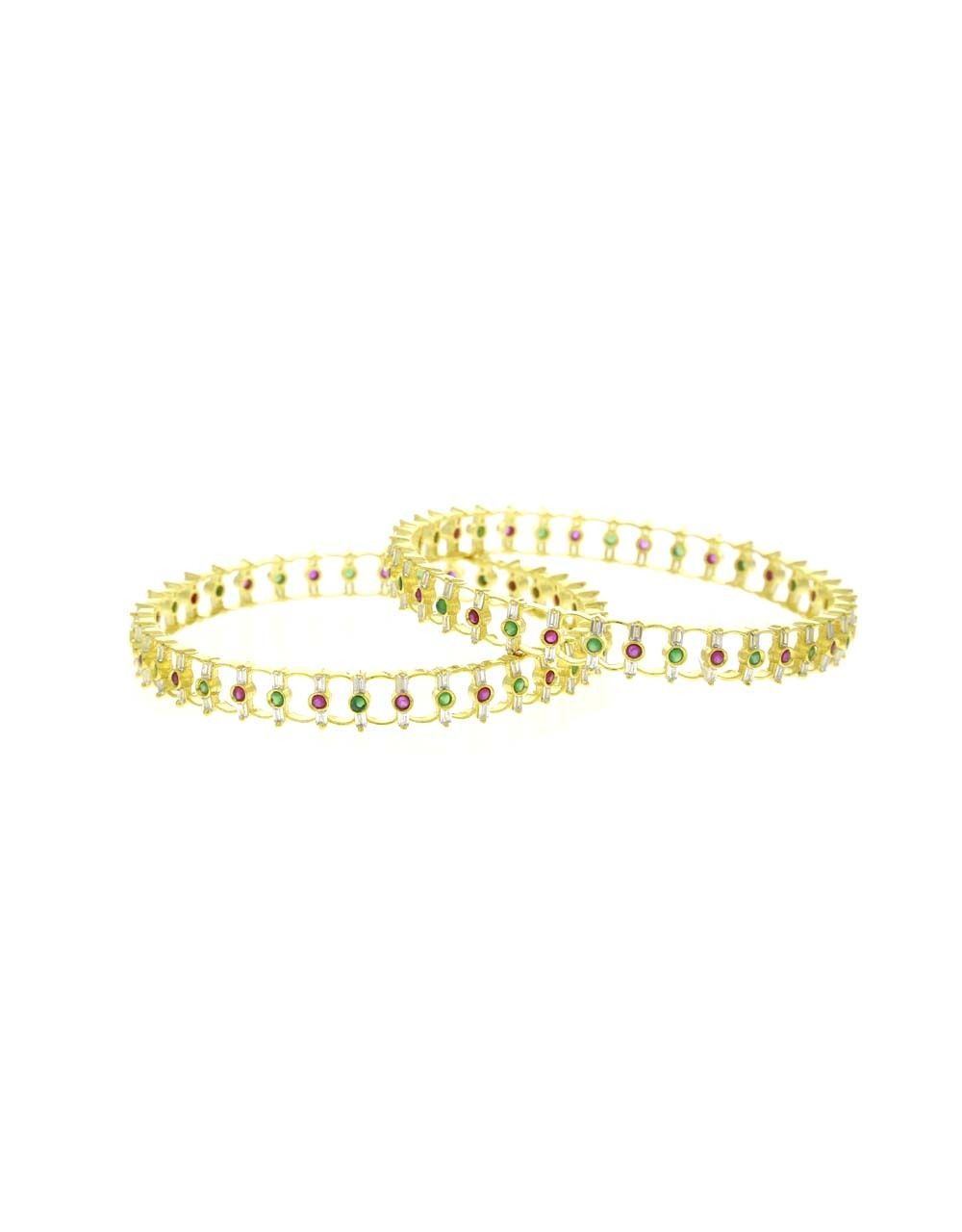 Pink-Green Combination Stylish Pair of Bangles for Women