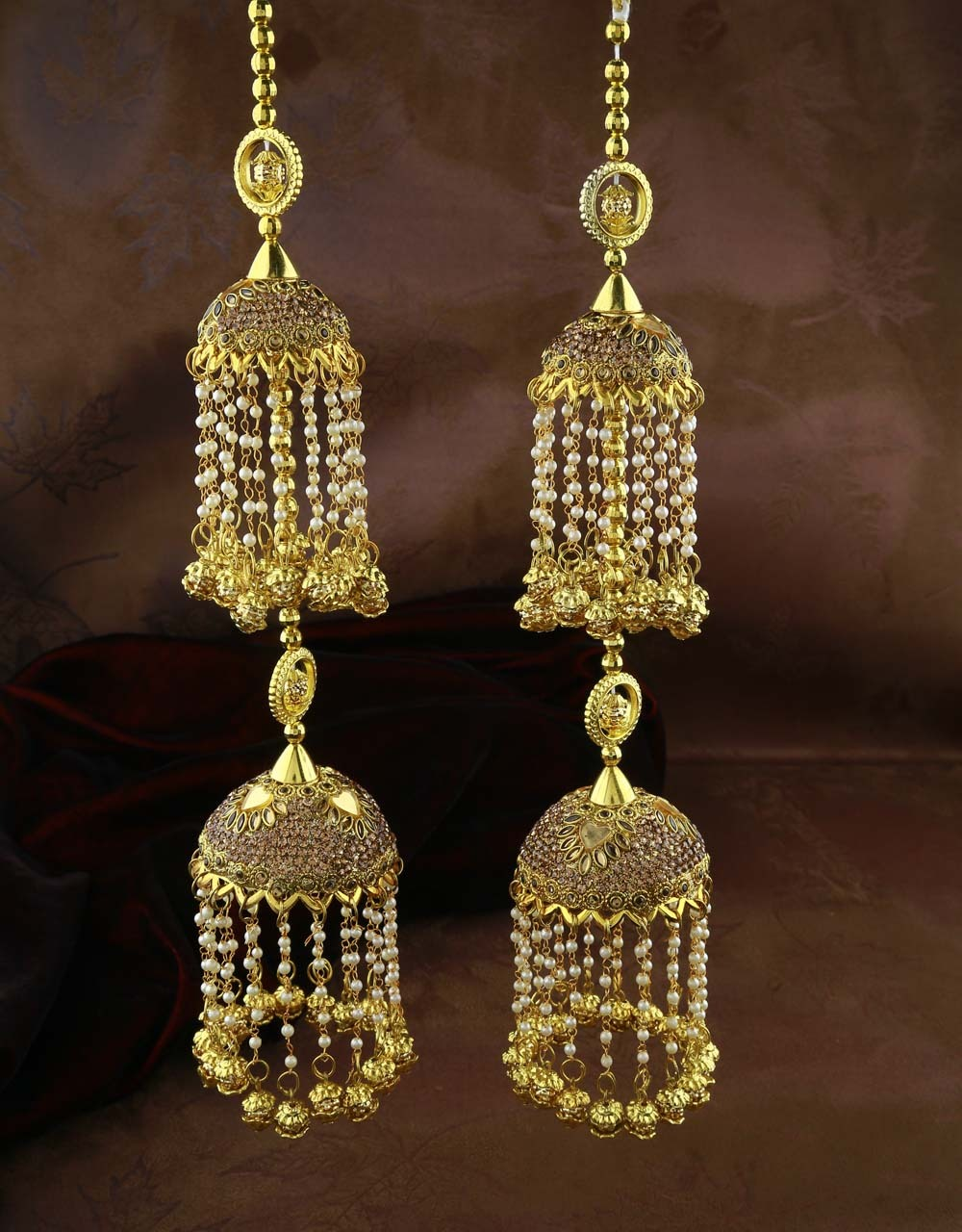 Gold Plated Designer Double Layer Kalire for Women