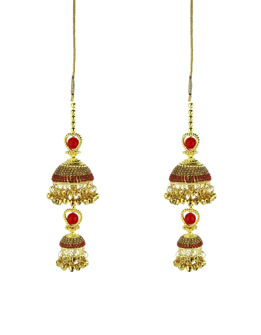 Red Colour Dazzling Stone Studded Kalire for Women