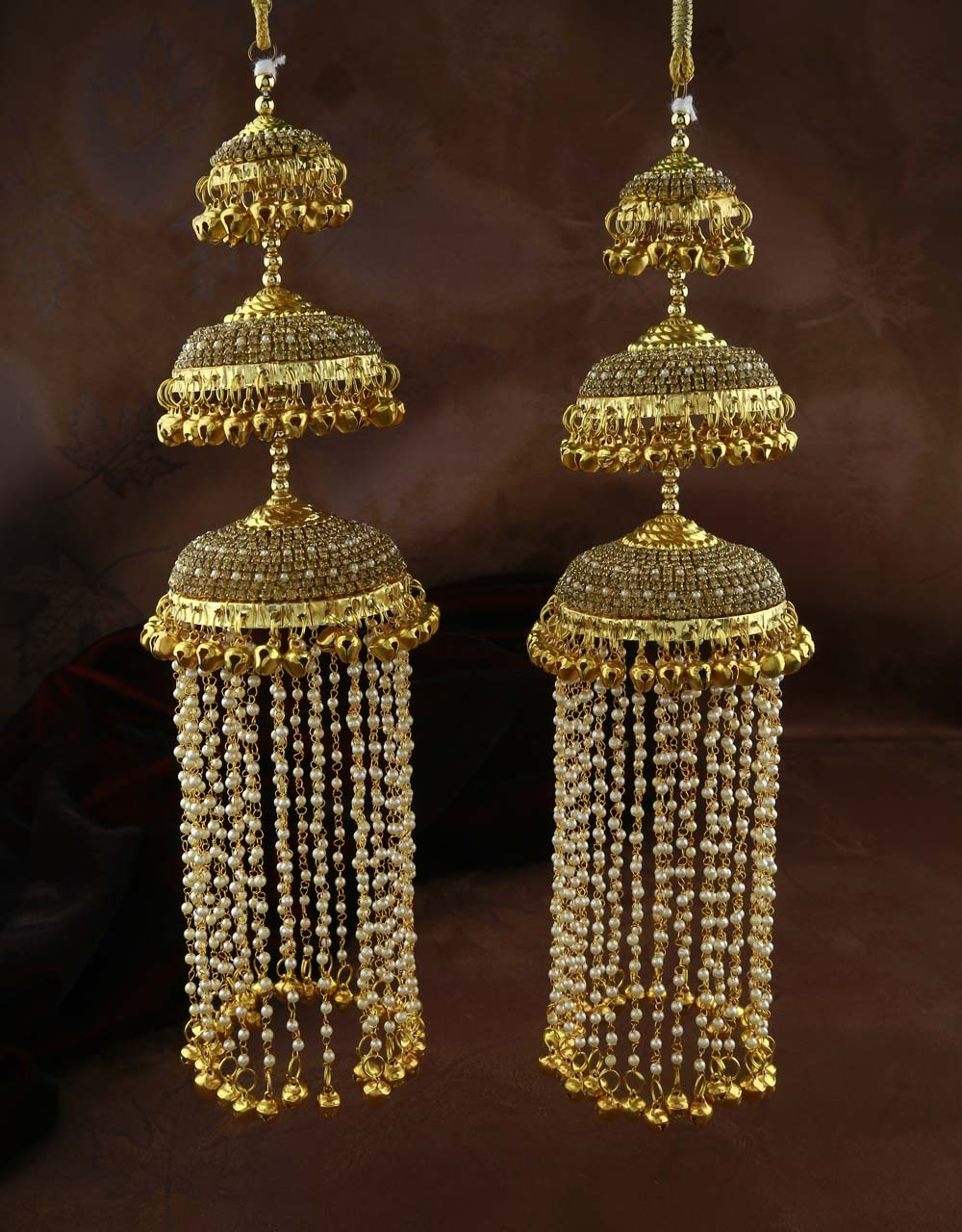 Gold Finished Three Layers of Beautiful Kalire for Women
