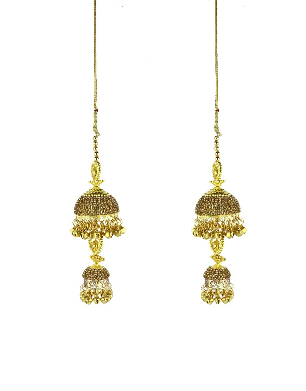 Dazzling Golden Finished Double Layer Kalira for Women