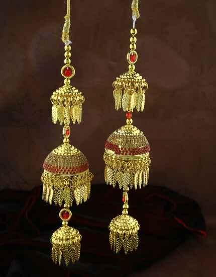 Elegant Pair of Red Colour Fancy Kalira for Women