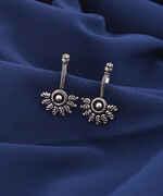 Anuradha Art Jewellery Silver Oxidized Bugadi