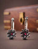 Anuradha Art Flower Styled Adorable Press On Bugadi Earrings