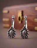 Anuradha Art Silver Oxidized Finish Adorable Clip On Bugadi