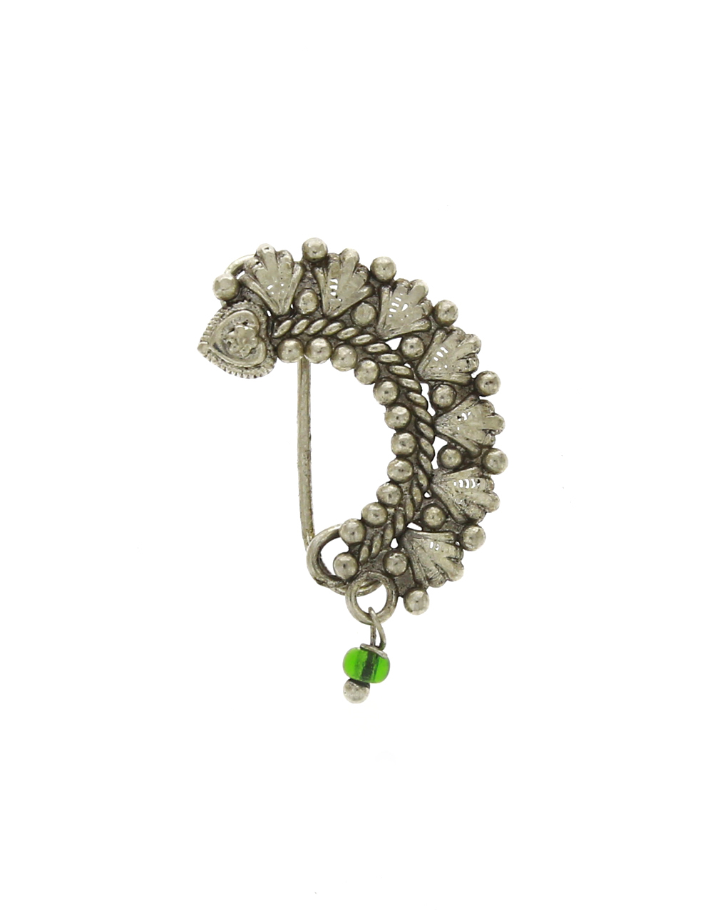 Oxidized Finish Adorable Marathi Wedding Nath | Clip-On Nose Pin, Clip-On Nath For Women [Press On Nath]