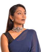 Anuradha Art Oxidized Tone Adorable Choker Necklace