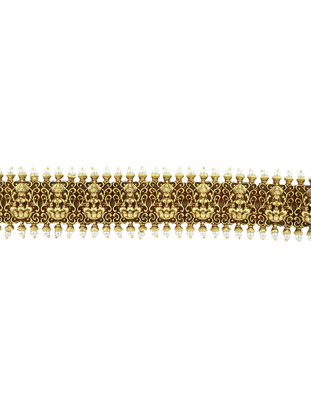 Anuradha Art Golden Finish Styled With Temple Look Designer Belly Chain