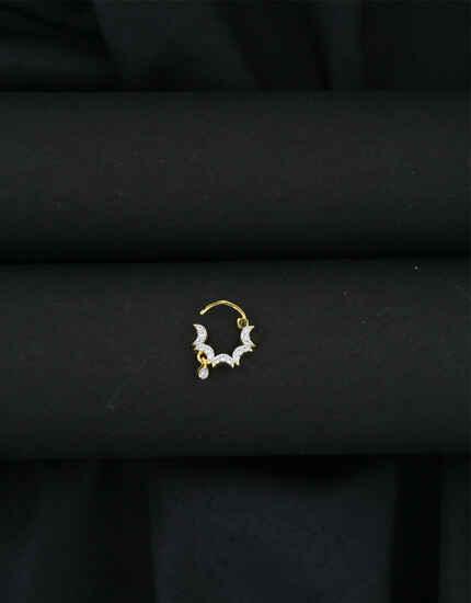 Anuradha Art Gold Tone Moon Inspired Dulhan Nose Ring