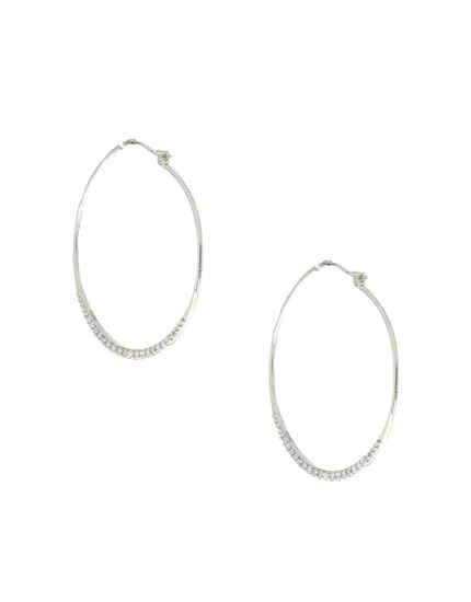 Silver Finish Designer Round Earrings|Bali Earrings For Women & Girls