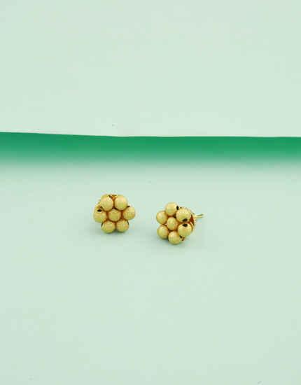 Anuradha Art Golden Finish Kudi Earrings(Tops) Kolhapuri Earrings