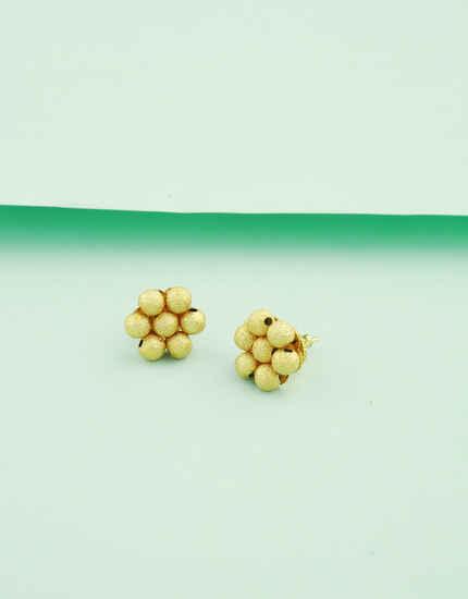Anuradha Art Traditional Kudi Earrings  Pearls Kudi (Tops)Moti Earrings For Women & Girls