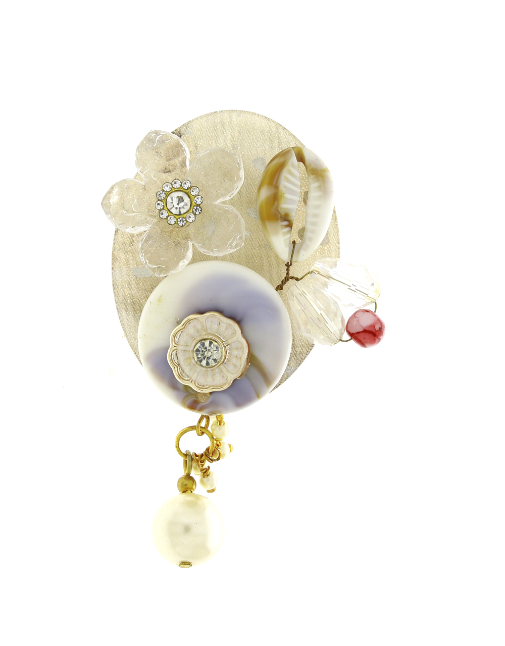 White Colour Brooch For Women Sari Brooch For Girls Daily Use Saree Pin