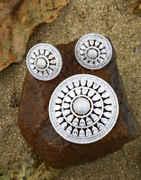 Silver Tone Diamonds Pendant Set For Women|Traditional Chain Pendant Set For Women & Girls