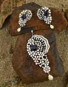 Blue Colour Diamond Pendant Set|Pendant Set For Women Latest Design For Girls