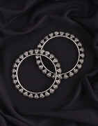Silver Oxidized Bangles Set For Women|German Banlges Kada Bracelets For Women