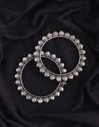 German Bangles Set |Silver Finish Oxidized Jewellery|Bangles Set For Women