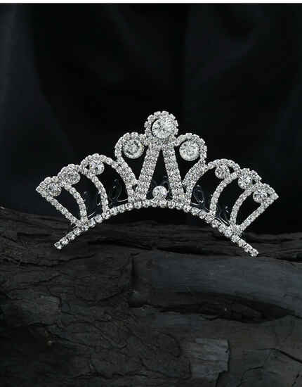 Silver Finish Designer Tiara Crown|Party Wear Hair Accessoires For Girls