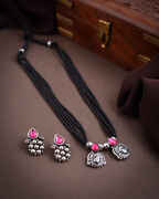 Oxidized Silver Tone Mangalsutra Set |Tribal Necklace For Women|Navaratri jewellery For Women