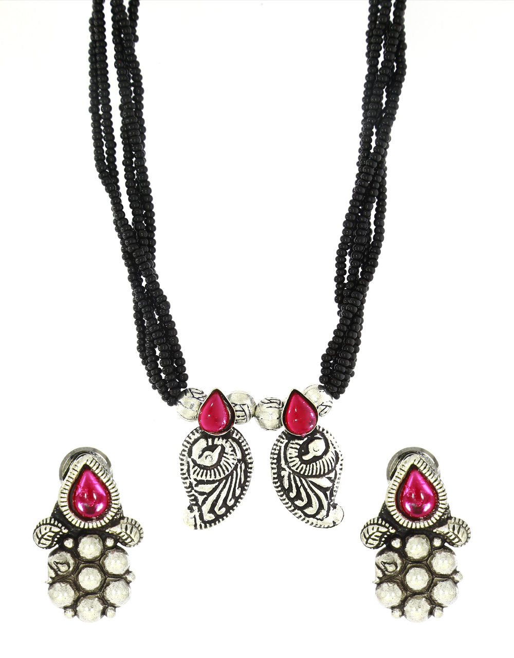 Oxidized Mangalsutra Set Traditional Mangalsutra For Women Tribal Jewellery Temple Mangalsutra