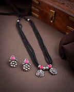Silver Tone Designer Mangalsutra Set|Tribal Jewellery|Rajsthani Mangalsutra Set For Women