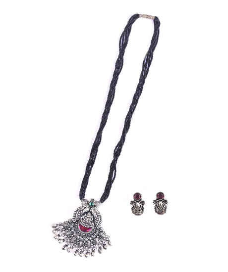 Oxidized Temple Styled Mangalsutra Set For Stylish Women|Traditional Long Mangalsutra For Women
