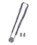 Oxidized Silver Tone Mangalsutra For Women  Traditional Long Mangalsutra Set Oxidized Long Black Beaded rious Mangalsutra Set
