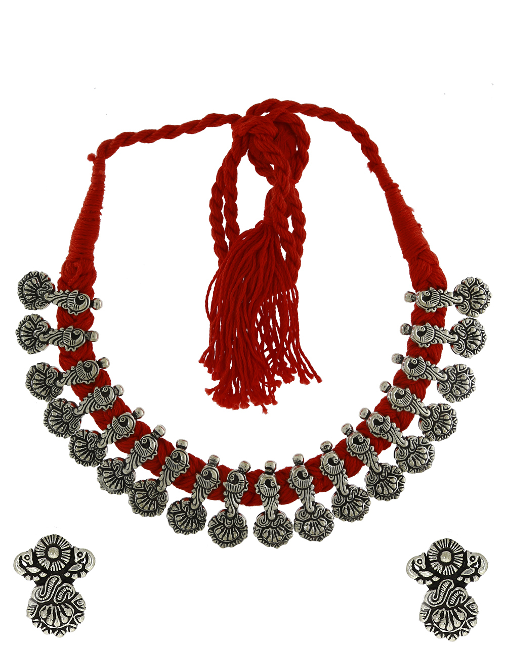 Thread Necklace For Women Oxidized Necklace For Navratri