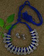 Blue Colour Trendy Necklace Set|Tribal Necklace