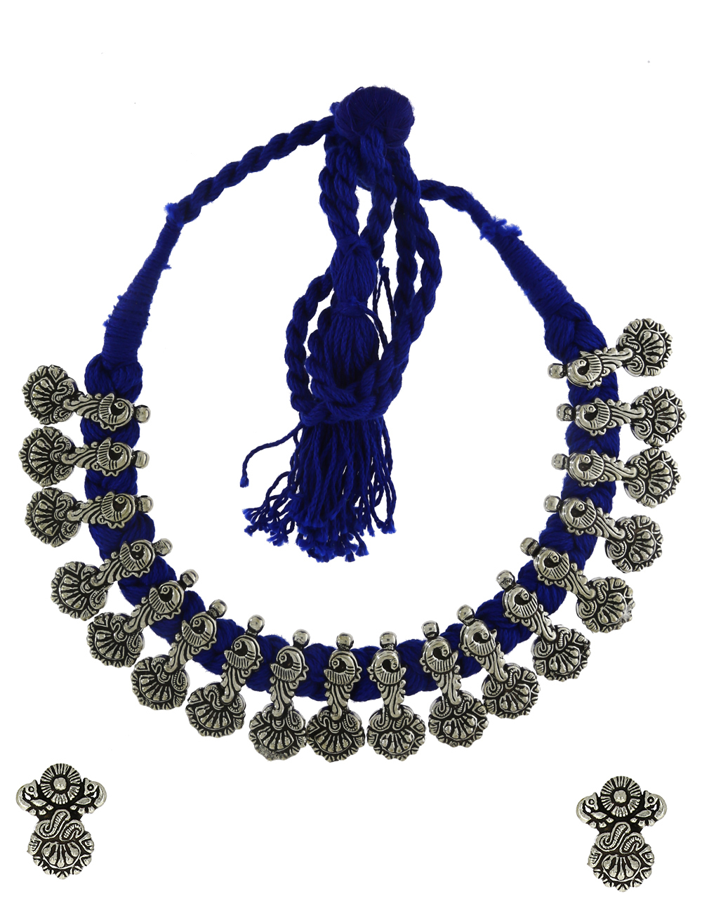 Anuradha Art Peacock Inspired Temple jewellery Thread Necklace For Women