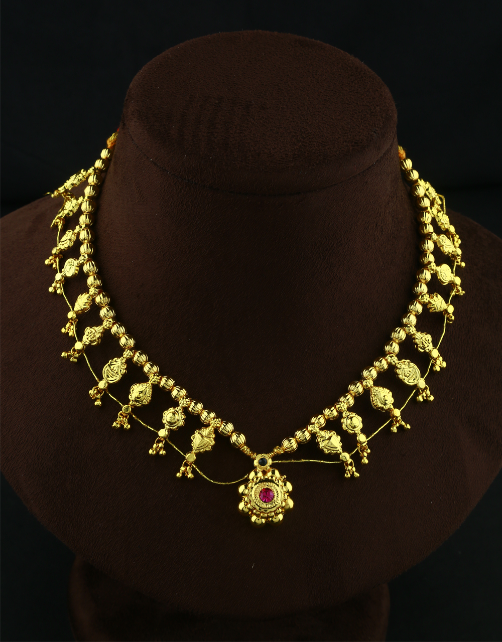 Adorable Pink Colour Thushi Necklace|Maharashtrian Traditional Necklace | Kolhapuri Necklace/Jewellery For Women & Girls