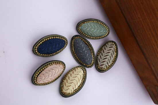 Oval Shape Traditional Combo Saree Pin Packets|Designer Brooches