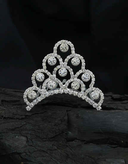Latest  Silver Tone Fancy Party Wear Crown,Tiara For Women|Bday Crown For Baby Girls|Wedding Crown For Girls