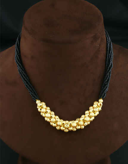 Fancy Gold Tone Traditional Thushi Necklace For Women|Maharashtrian Jewellery For Women & Girls