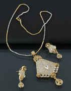 Dazzling American Diamond Pendant Set
