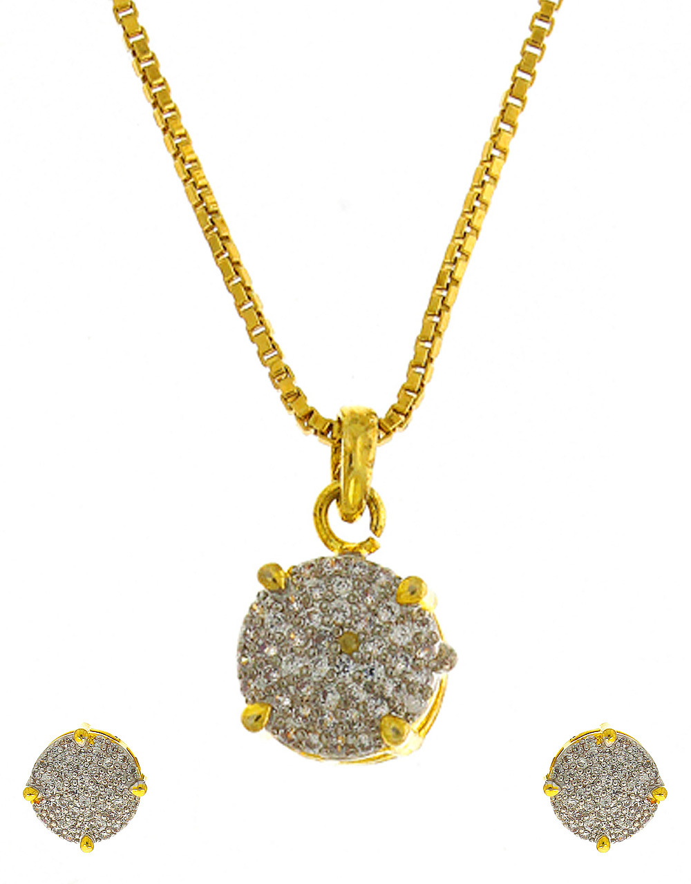 American Diamond Pendant Set
