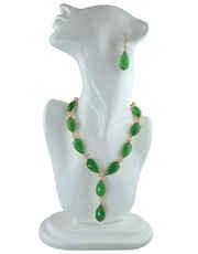 Green Swarovski Stone Embedded Necklace Set
