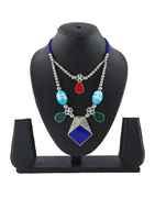 Blue Colour Designer Navratri Necklace for Women