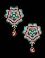American Diamond Pendent Set
