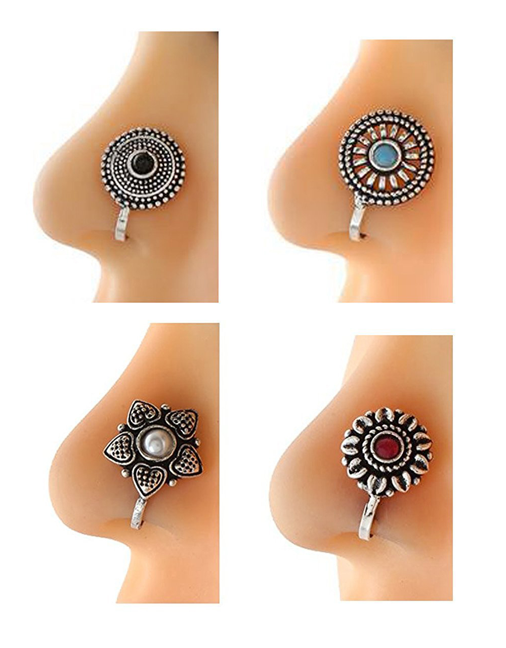 Oxidised Nose Studs for Girls
