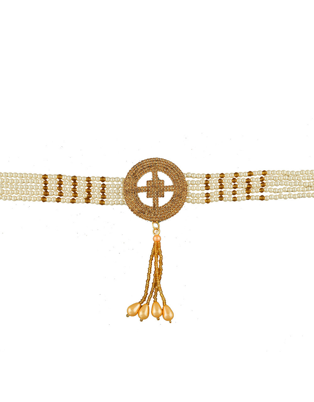 Moti Kamarband Embedded with Sparkling Stones for Women