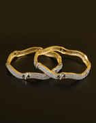 Golden Polished American Diamond Bangles