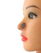 Oxidised Nose Ring For Girls