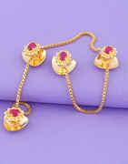 Pink Colour Adorable Kurta Button for Men