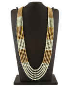 Groom Jewellery in Golden White Combination